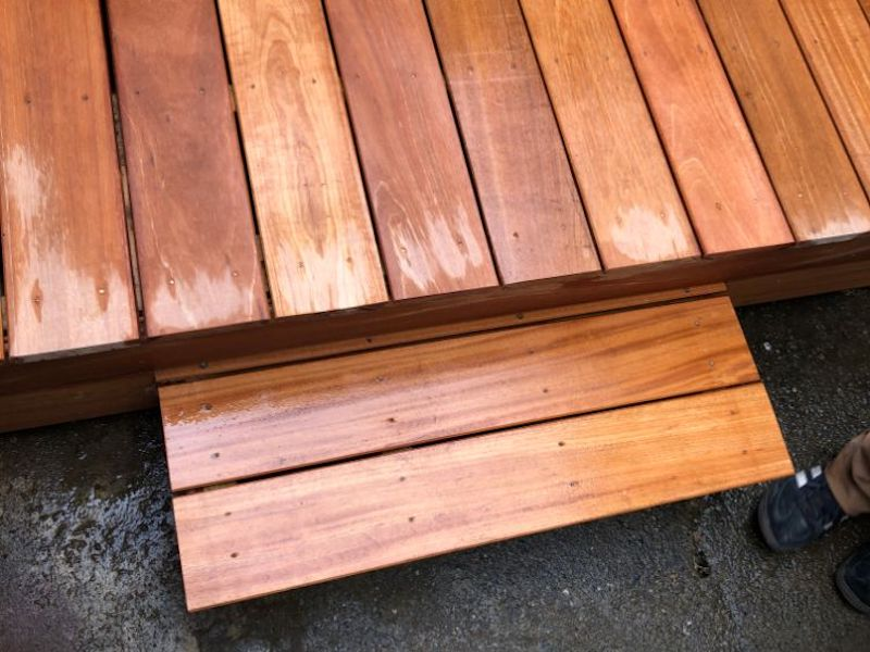 Custom Fitted Garden Decking Feature - GT Carpentry