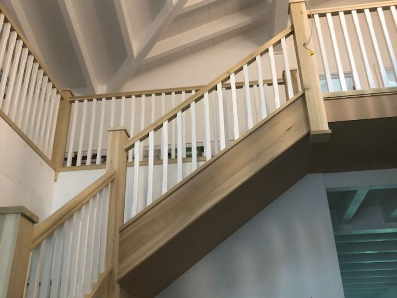 Feature Custom Poplar Staircase, Wicklow - GT Carpentry