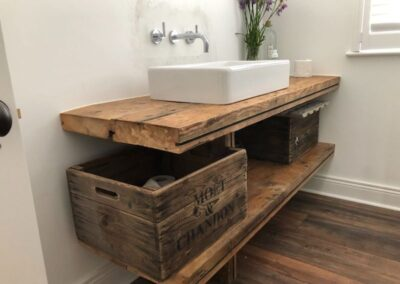 Reclaimed Wood Bathroom Vanity Unit