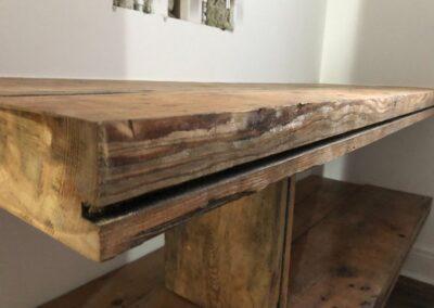 Reclaimed Wood Bathroom Vanity Unit - GT Carpentry